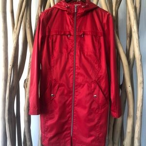 Michael Kors Womens Red windbreaker/Rain jacket
